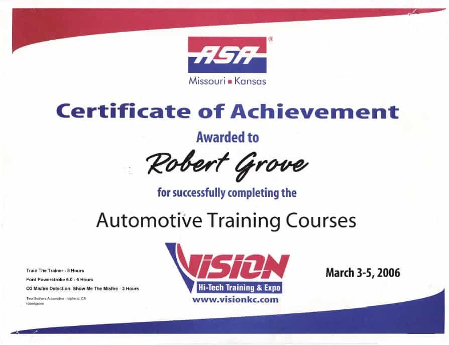 mobile mechanic training repair mechanics certified asa orange county class