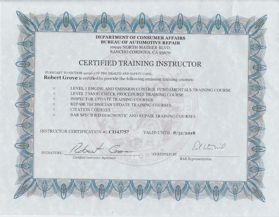 certified training mechanics mobile instructor bar certificate mechanic class am
