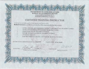 I am a BAR certified training instructor