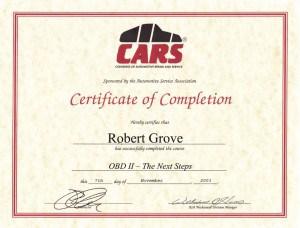 CARS OBD II -Mobile Diesel Mechanic Certification
