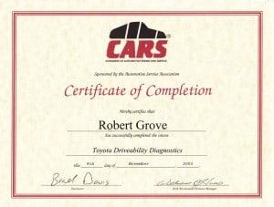 Mobile CARS Toyota Repair Diagnostics